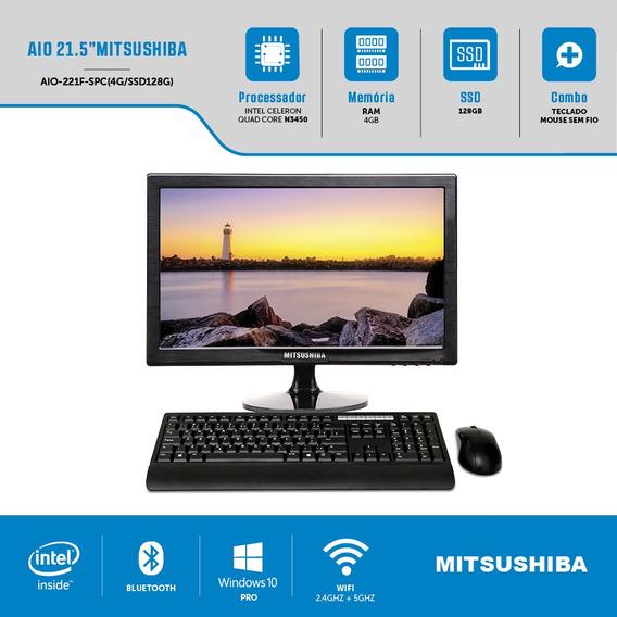 Computador All In One 21,5 Pol Quad N3450 4g Ssd128g Windows