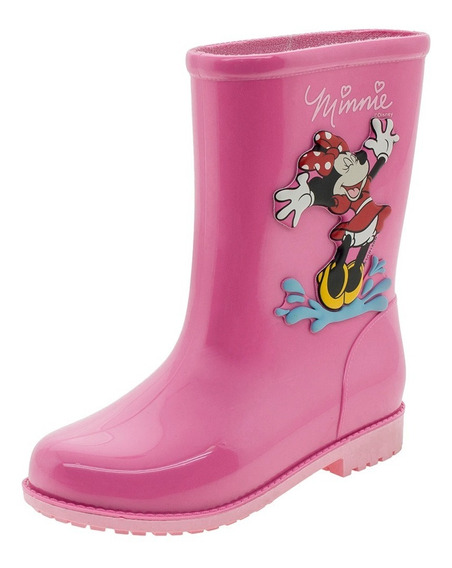 Bota Infantil Feminina Minnie Fashion Rosa Grendene Kids - 2