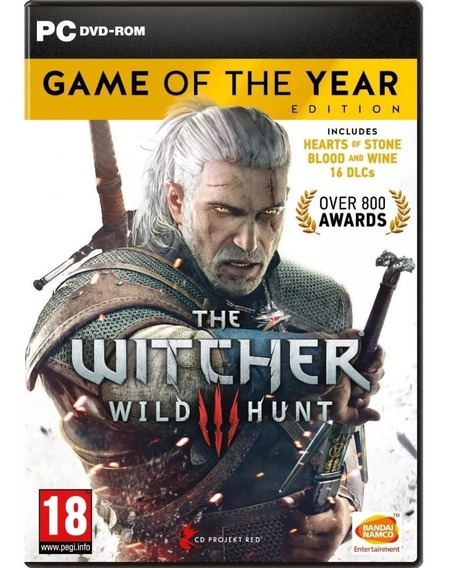 The Witcher 3 Wild Hunt - Game Of The Year + 18 Dlcs - Pc