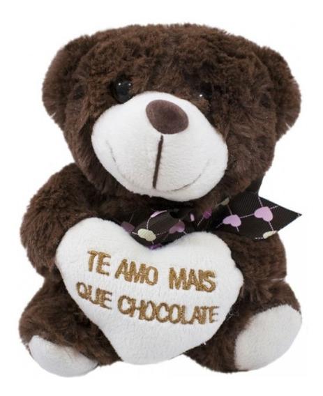 Urso Pelúcia Marrom Amo Mais Que Chocolate
