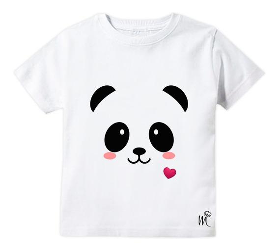 Camiseta Infantil Panda Fofo