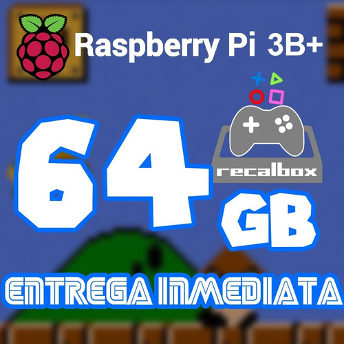 Archivo Imagen Recalbox 64g P/ Raspberry Pi 3b/b+ 14miljuego