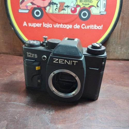 Imagem 1 de 8 de Corpo Câmera Zenit 12xs Funcionando Sem As Lentes