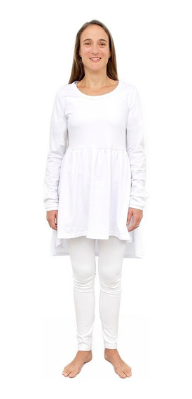 Kundalini Yoga 1 Vestido Mga Larga+ 1 Calza Algodon Blanco