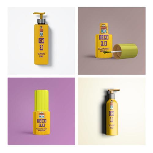 5 Mockup Cosmetico Maquillaje Esmalte Envases Gel Photoshop