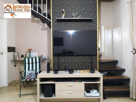 Sobrado Com 2 Dormitórios À Venda, 70 M² Por R$ 280.000,00 - Parque Flamengo - Guarulhos/sp - So0494