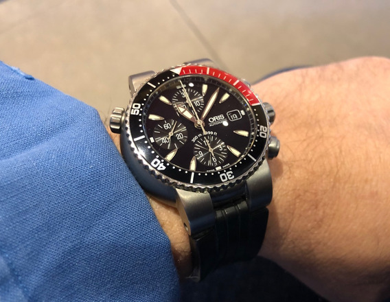 Reloj Oris Divers Titanium Chrono Automatico Tt1 44mm 300m