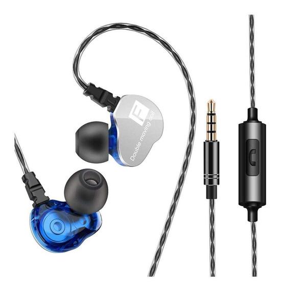 Fone de ouvido QKZ CK9 blue
