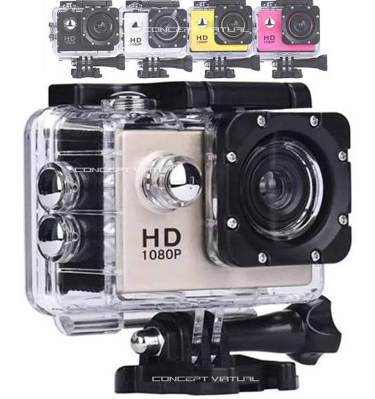 Câmera Filmadora Sports Cam 1080p Youtubers Vlog Canal + Nf