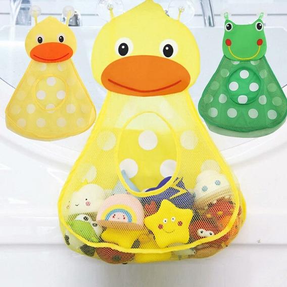 1 Organizador Brinquedo Banho Infantil Bebê Sacola Ventosa
