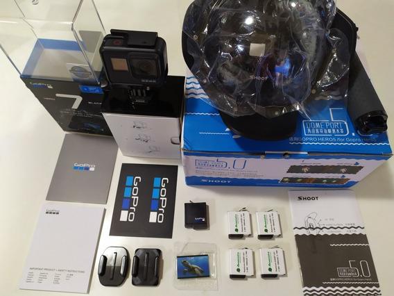 Gopro Hero 7 Black + 5 Baterias + Dome + Estanque Novinha