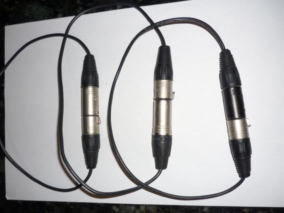 Conector Xlr Neutrik Puente Hembra / Macho + Cable Belden