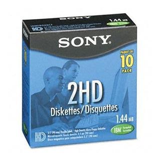 Sony 10mfd2hdlf 2hd Disquetes Con Formato De 3,5 Pulgadas Ib