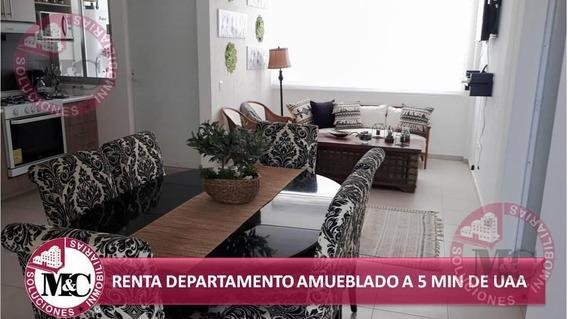Departamento En Renta Amueblado A 5 Min De Uaa