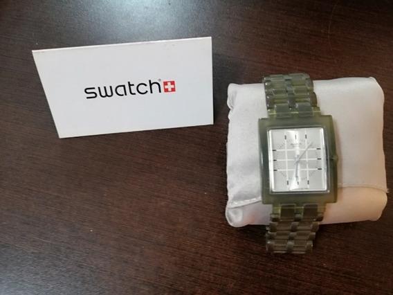 Reloj Swatch Para Caballero Cuadrado Verde Botella