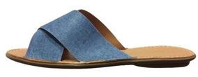 Rasteirinha Feminina Akazzo Jeans Azul Chicago 421j-30