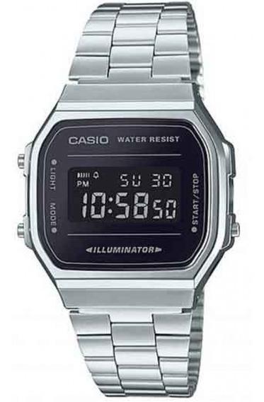 Relógio Casio Unissex Vintage A168wem 1df Digital Negativo