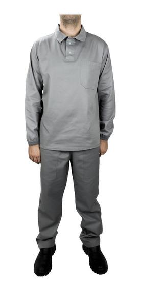 Conjunto Brim Camisa E Calça P/ Pedreiro Serralheiro Pintor