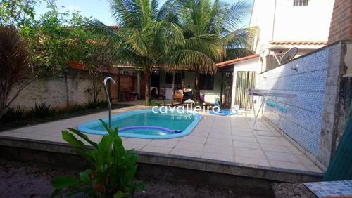 Imagem 1 de 27 de Casa No Barroco Com Rua Asfaltada E Água Da Cedae - Ca4098