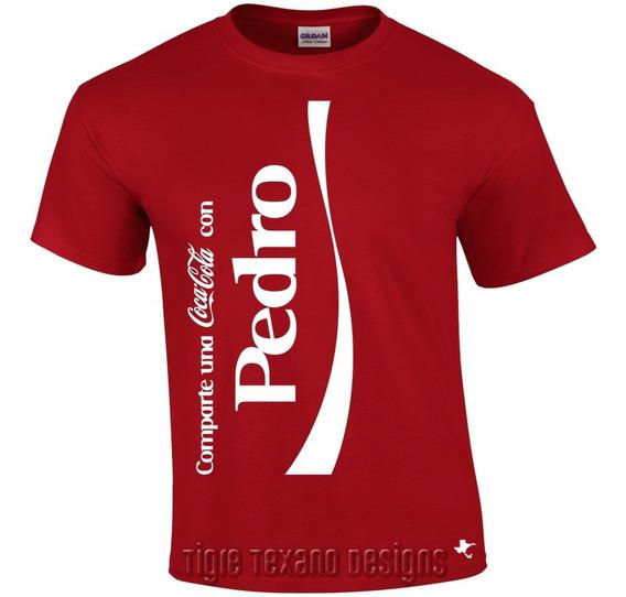 Playera Coca Cola Con Tu Nombre Normal Tigre Texano Designs