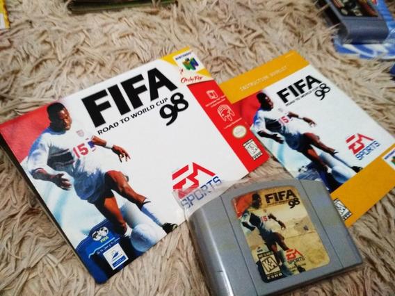 Fifa 98 Road To World Cup Nintendo 64 Com Caixa E Manual