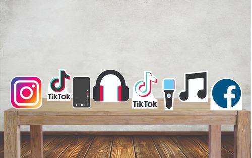 Imagem 1 de 4 de Displays Festa Tik Tok Rede Social