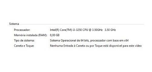 Computador I3 3.50ghz 8gb De Ram Ssd 240gb