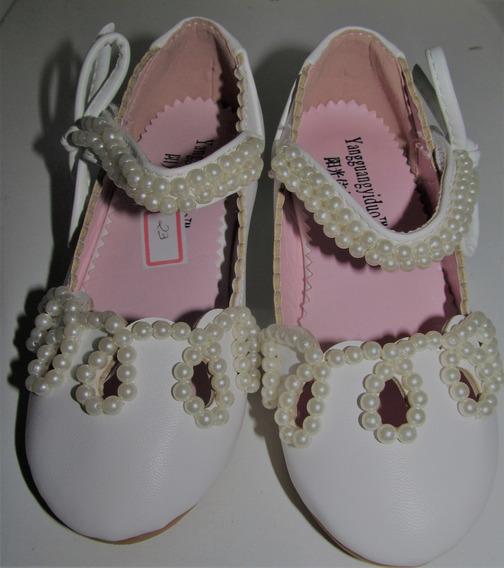 Sapato Infantil Festa Branco Princesa Daminha Luxo
