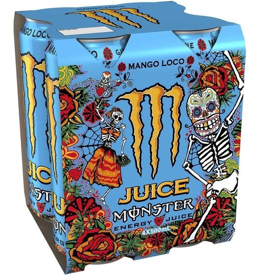 Energizante Monster Mango Loco Bebida Pack X 6 Latas