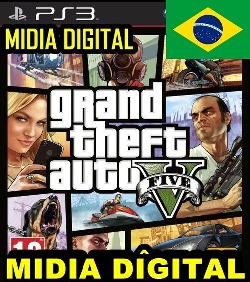 Gta 5 V Jogos Tiros Ps3 Leg. Português Br Digital Psn Promoção Barato Ação Aventura Estratégia Envio Imediato Online