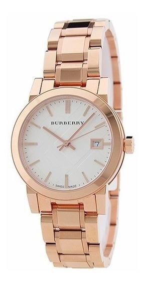 Reloj Burberry The City Swiss Acero Oro Rosado Mujer Bu9104