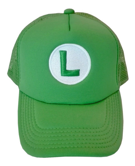 Gorra Trucker Luigi, Bordada 3d, Mario Bros, Dipper, Gokú