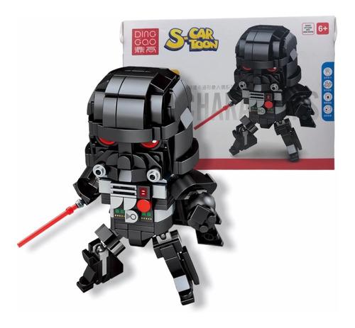 Imagen 1 de 9 de Ladrillos Encastrables Star Wars Juguete Darth Vader Dark