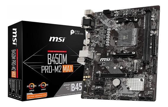 Motherboard Amd Msi B450m Pro M2 Max Am4 Ddr4 B450 3