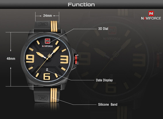 Relógio Naviforce Esporte Masculino Original Nf9098 Watchmen