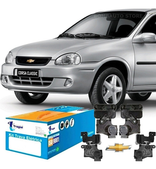 Kit Trava Elétrica Corsa Hatch/ Sedan 94 Classic Todos 4 Pts