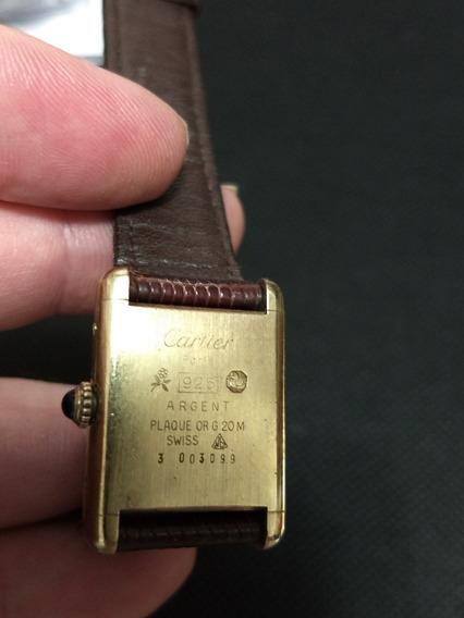 Relogio Cartier Prata Vermeil Ouro 925 Paris Original