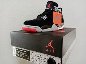 Tenis Nike Air Jordan 4 Bred #27mx Nuevos Originales En Caja