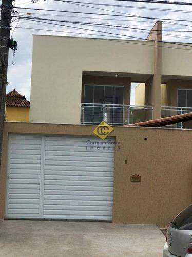 Linda Casa Com 3 Dormitórios À Venda, 142 M² Por R$ 650.000 - Recreio - Rio Das Ostras/rj - Ca2095