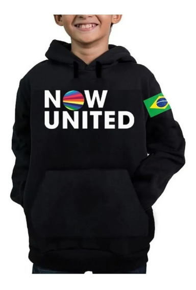 Moletom Infantil Now United 06 Any Gabrielly Brasil Casaco
