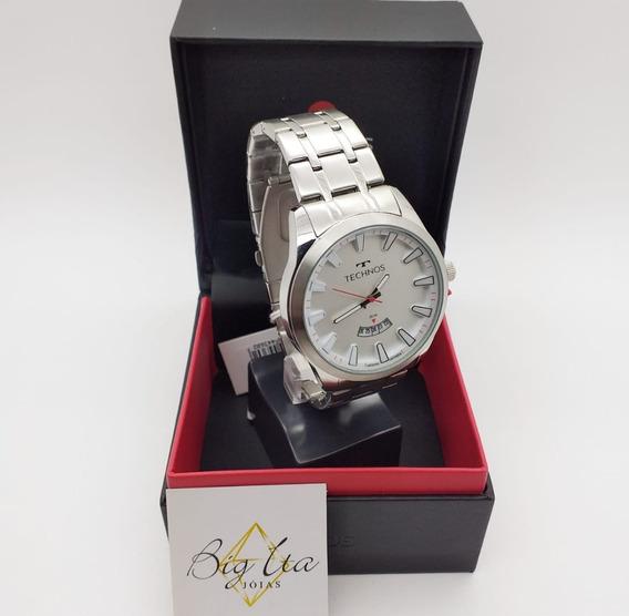 Relógio Technos Racer Masculino Prata Grande 2115kzb/1b