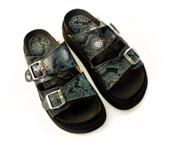 Sandalias Zapatos Mujer Suecos Plataforma Cuero Birken