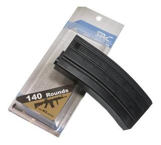 Magazine Plástico Airsoft Src Mid-cap M4/m16 140bbs Cor Prta
