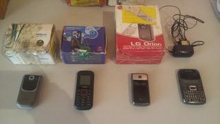 Celular Nokia 7020 Motorolla Ex108 LG Orion Kit Lote Defeito