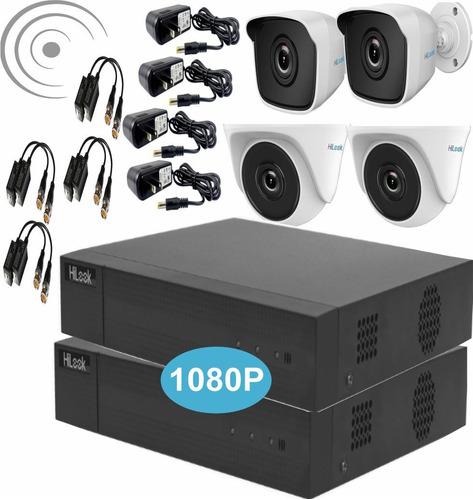 Kit Hikvision Hilook Dvr 1080p 4ch +4 Camaras 1080p+obsequio