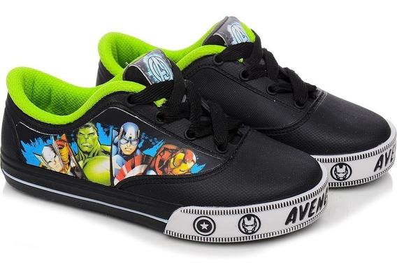 Tênis Infantil Masculino Disney Avengers Preto/verde 21284