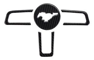 Molduras Volante Fibra Carbono Mustang 2015-2019 Envíogratis