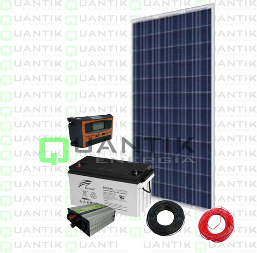 Panel Solar 100w, +batería+inversor+regulador+3 Focos+cables