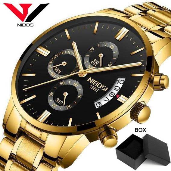 Relógio Masculino Nibosi Quartzo Original Lançamento