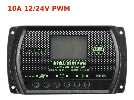 Controlador De Cargas Inteligente 10a 12/24v Painel Solar